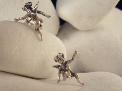 """""""Angel"""" Sterling Silver Stud Earrings by A.LeONDARAKIS"""
