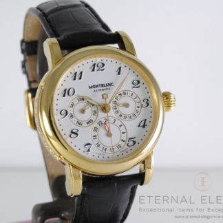 Montblanc Meisterstuck Dual Time Automatic 7014 Gold Plated Men's Watch
