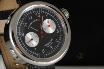 Giuliano Mazzuoli Manometro Chronograph, Stainless Steel Black Dial