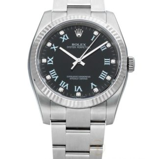 Rolex Oyster Perpetual Date 36 Black Diamond Dial Automatic 116034