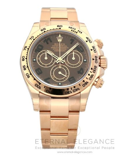 Rolex Cosmograph Daytona Chocolate Dial 18K Everose Gold Oyster Automatic Ref: 116505