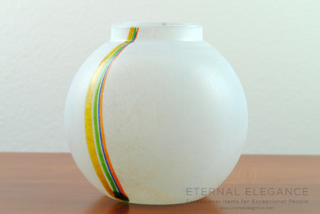 Kosta Boda 'Rainbow' 1960's Glass Decorative Vase, Bertil Vallien 48223