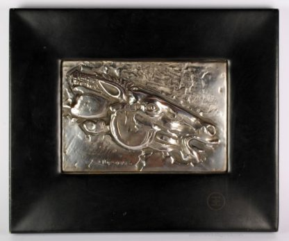Yannis Parmakelis 999 Silver Framed Horse Wall Decorative Relief Sculpture