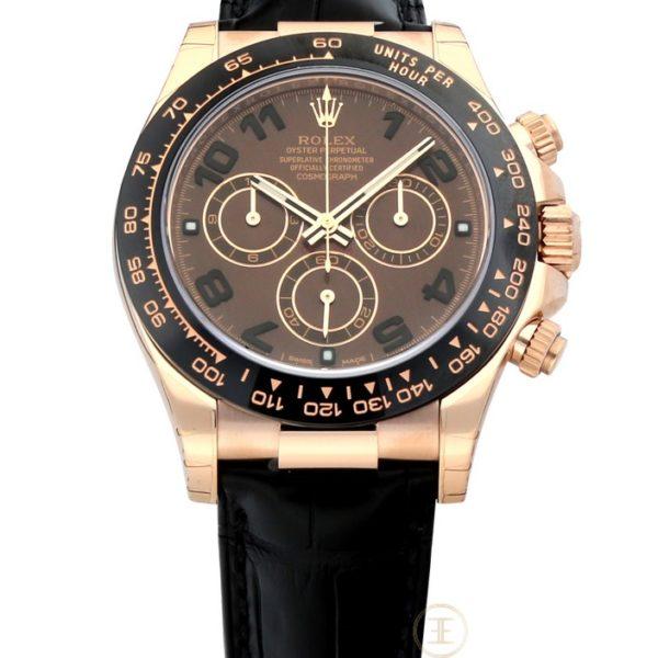 Rolex Cosmograph Daytona Chocolate Dial 18K Everose Gold Automatic 116515