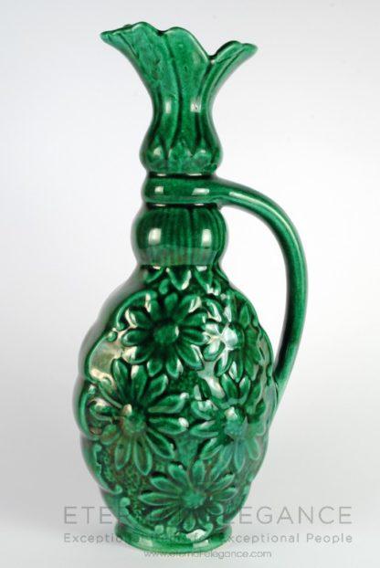 Vintage Decorative Ceramic Green Flower Vase