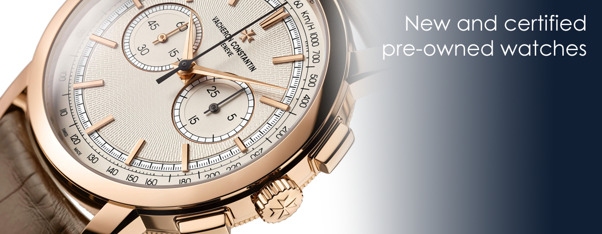 New and certified pre-owned watches