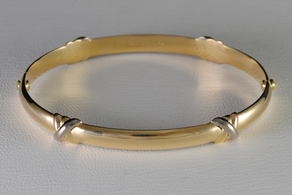 bangles k oro striking listing bangle gold bracelet solid m jewelry