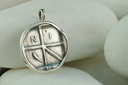 Ancient Greek Coin Pendant, Aegina Island, Turtle, NI and Dolphin - Solid Sterling Silver - A.LeONDARAKIS