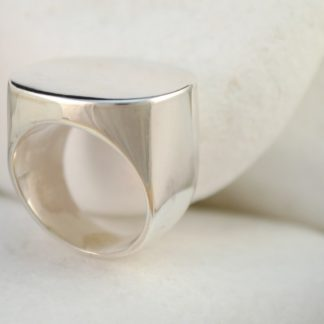 Personalized Oval Ring Engraved with your Own Design by A.LeONDARAKIS