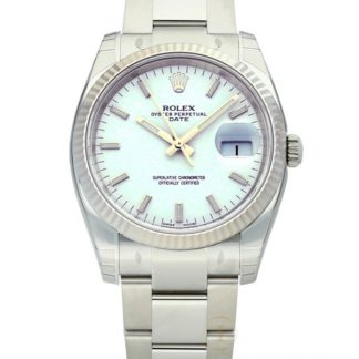 Rolex Perpetual Date 34 White Dial Automatic 115234