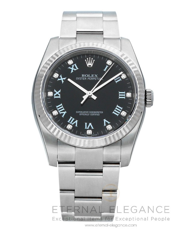 23005202bfee Rolex Oyster Perpetual Date 36 Black Diamond Dial Automatic 116034 ...