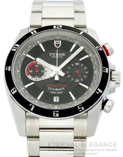 Tudor Grantour Fly-Back Chronograph Black Dial 20550N