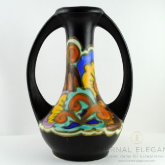 CM Bergen Belgium Art Deco Ceramic Vase