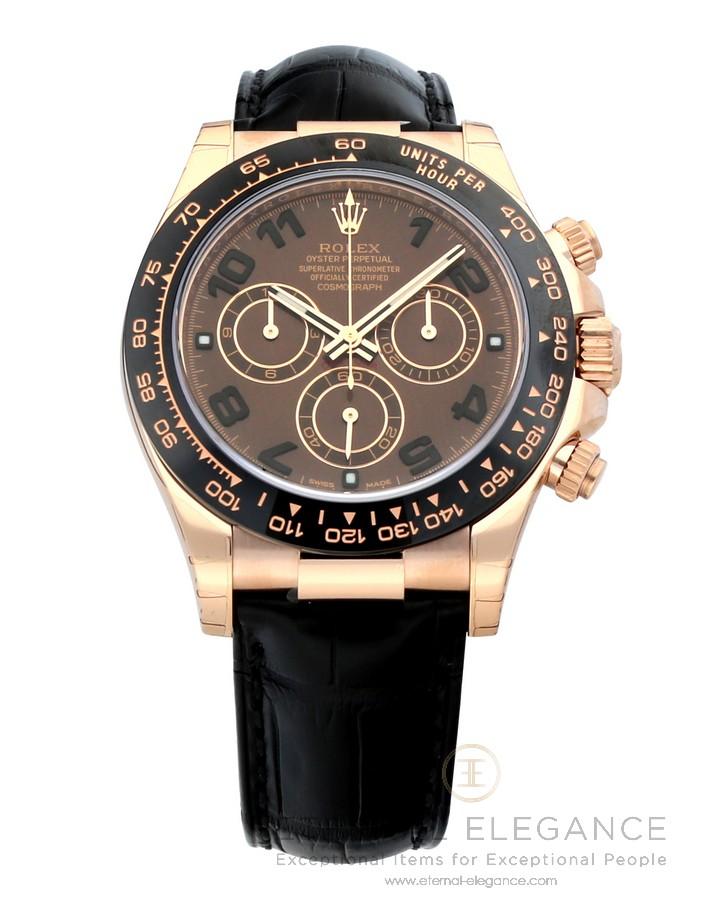 Rolex Cosmograph Daytona Chocolate Dial 18k Everose Gold Automatic
