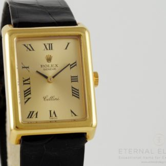 Rolex Cellini Ref. 4103 18k Gold Manual Wind Rectangle (SOLD)
