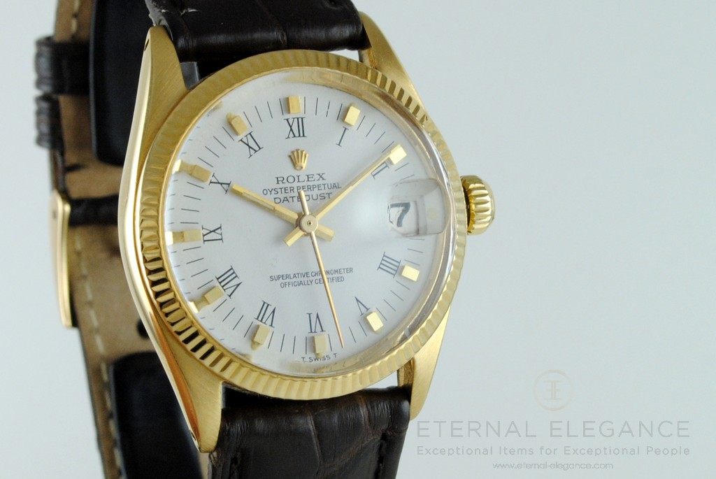 e1f1a6e6923 Rolex Oyster Perpetual Datejust Ref  6827 Midsize 18k Gold Vintage Swiss  Watch