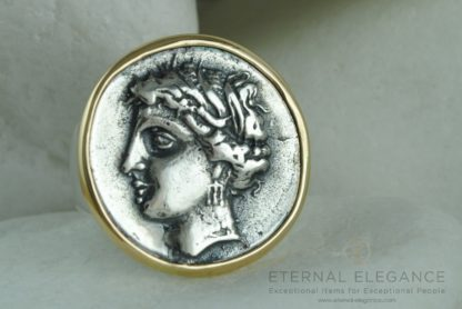 Goddess Persephone Ancient Greek Coin Ring by A. LeONDARAKIS
