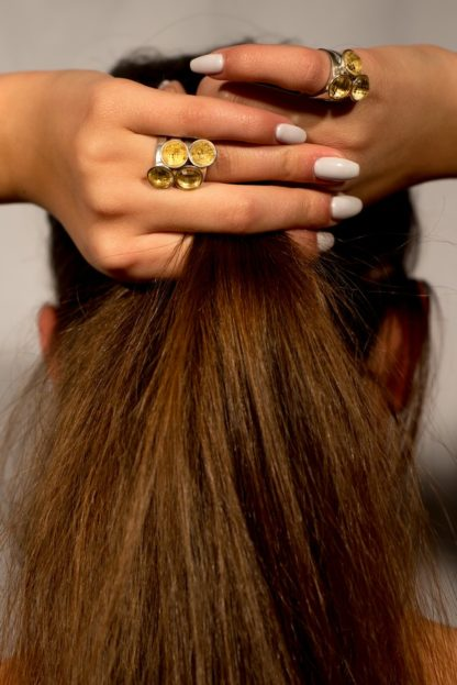 'Summer sunset' Briolette Citrine Rings by Loga di Lusso