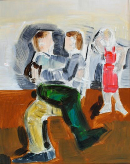 Georgiou, Apostolos | Oil on Canvas Painting, Figures, 44cm x 34cm