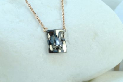 Nose Pendant in Black Rhodium Plated Sterling Silver by A.LeONDARAKIS