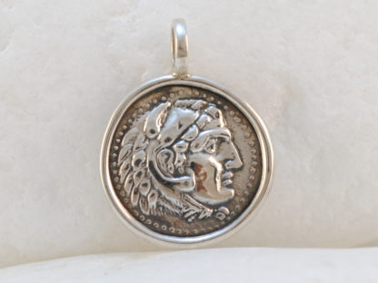 Alexander the Great Coin Pendant in Sterling Silver by A.LeONDARAKIS