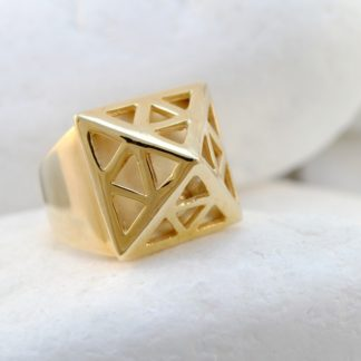 Pyramid Ring with Silver Beads by A. LeONDARAKIS