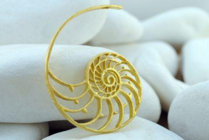 Gold Nautilus Pendant
