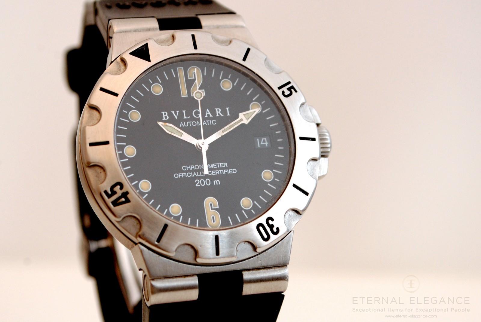 ddad0987187 Bvlgari Diagono Scuba Steel COSC Automatic Mens Watch SD38S