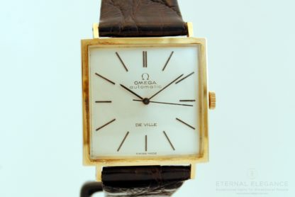 Square Case Omega DeVille in 18k Gold